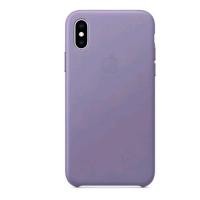 APPLE iPHONE XS COVER ORIGINALE IN PELLE LILLA