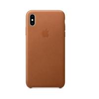 APPLE iPHONE XS MAX COVER ORIGINALE IN CUOIO SADDLE BROWN