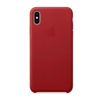 APPLE iPHONE XS MAX COVER ORIGINALE IN PELLE RED