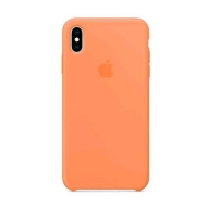 APPLE iPHONE XS MAX COVER ORIGINALE IN SILICONE PAPAYA ARANCIONE