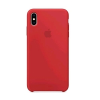 APPLE iPHONE XS MAX COVER ORIGINALE IN SILICONE RED