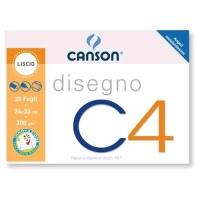 CANSON ALBUM DISEGNO C4 4 ANGOLI CM 24X33 200 GR LISCIO 20 FOGLI