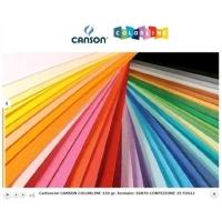 CANSON COLORLINE CARTONCINI COLORATI 50X70 mm 220 GR COL. ROSA C