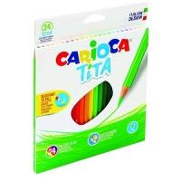 CARIOCA TITA MATITE COLORATE 3 mm COLORI ASSORTITI CONF 24 Pz.