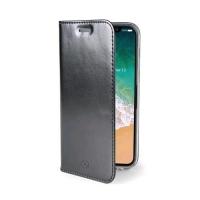 CELLY AIR CASE iPHONE X CUSTODIA AD AGENDA COLORE NERO