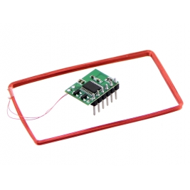 Mini 125Khz RFID Module - Pre-Soldered Antenna (70mm Reading Dis