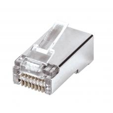 Confezione 100 Plug modulari RJ45 Cat5e FastCrimp