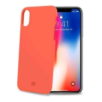 CELLY iPHONE X/XS COVER SHOCK IN TPU SOFT TOUCH COLORE ORANGE