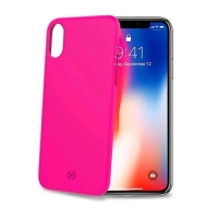 CELLY iPHONE X/XS COVER SHOCK IN TPU SOFT TOUCH COLORE ROSA