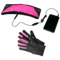 CELLY KIT SPORT GUANTI TOUCH SCREEN + FASCIA SPORTIVA CON AURICO