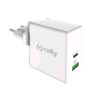 CELLY PROPOWER CARICABATTERIE 1xUSB-A 1xUSB-C 45W BIANCO