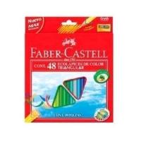 FABER CASTELL ECO PASTELLI TRIANGOLARI 3 mm COLORI ASSORTITI CON