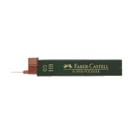 FABER CASTELL SUPERPOLYMER ASTUCCIO 12 MINE HB 0.5 mm CONF. 12 P