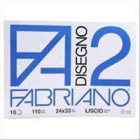 FABRIANO F2 ALBUM CM 24X33 110 GR 10 FOGLI LISCIO PUNTO METALLIC