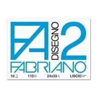 FABRIANO F2 ALBUM DA DISEGNO CM 33X48 110 GR COLLATO RUVIDO 12 F