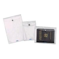 FAVORIT BUSTE CON BOTTONE IN PVC CM 9.2X13 A7 TRASPARENE CONF 10