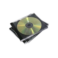 FELLOWES CUSTODIA PORTA CD/DVD IN PLASTICA CM 12.5X14 BASE NERA