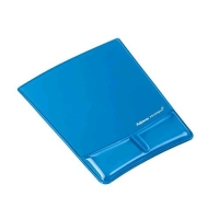 FELLOWES HEALTH-V TAPPETINO MOUSE CON POGGIAPOLSI COLORE BLU