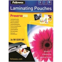 FELLOWES PRESERVE250 POUCHES LUCIDE A4 25 MY COL. TRASPARENTE CO