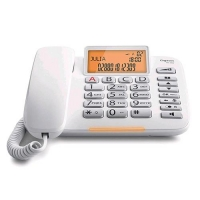 GIGASET DL580 TELEFONO DA TAVOLO CON DISPLAY TASTI GRANDI BIANCO