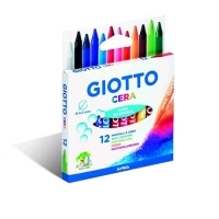 GIOTTO CERA PASTELLI A CERA 8.5 mm COLORI ASSORTITI CONF. 12 Pz.