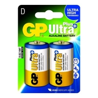 GP BATTERY ULTRA PLUS BATTERIA D TORCIA ALCALINA 1.5V CONF. 2 PZ