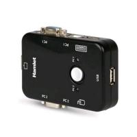HAMLET KVM SMART CONTROL SWITCH A 3 PORTE USB + VGA CON 2 SET DI