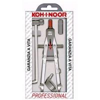 KOH-I-NOOR COMPASSO CON BALAUSTRONE PROFESSIONAL 170 MM + 3 ACCE
