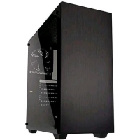 KOLINK STRONGHOLD BLACK CASE MID-TOWER ATX NERO CON PANNELLO LAT