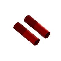 Aluminum Shock Body 24x83mm (Red) (2) - ARA330578