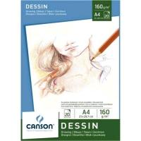 CANSON DESSIN BLOCCO DA DISEGNO A4 160 GR 20 FOGLI COLORE BIANCO