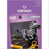 CANSON KIDS BLOCCO DA DISEGNO A4 220 GR RUVIDO 10 FOGLI COLORE N