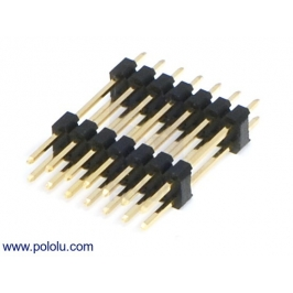 0.100 (inches) (2.54 mm) Extended Male Header: 2×7-Pin, 22.85 m