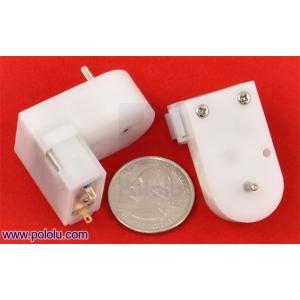 120:1 Mini Plastic Gearmotor, Offset 2mm Spline Output