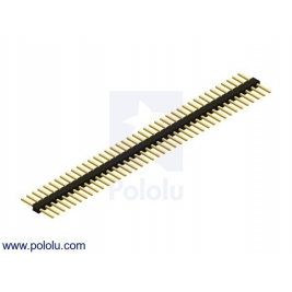 0.100 (inches) (2.54 mm) Breakaway Male Header: 1×40-Pin, Strai