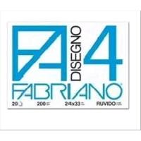 FABRIANO F2 ALBUM DA DISEGNO 4 ANGOLI CM 24X33 110 GR LISCIO 20