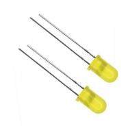 Set 100 Led circolari 5 mm colore giallo
