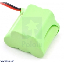 Rechargeable NiMH Battery Pack: 6.0 V, 350 mAh, 3+2 2/3-AAA Cell