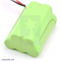 Rechargeable NiMH Battery Pack: 6.0 V, 700 mAh, 3+2 AAA Cells, X
