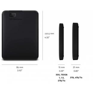 Western Digital 2TB Elements Portatile, Hard Disk Esterno, USB 3